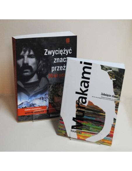 Prezentacja książek na podstawkach Plexi ZygZak