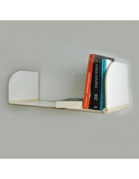 Półka na książki biała