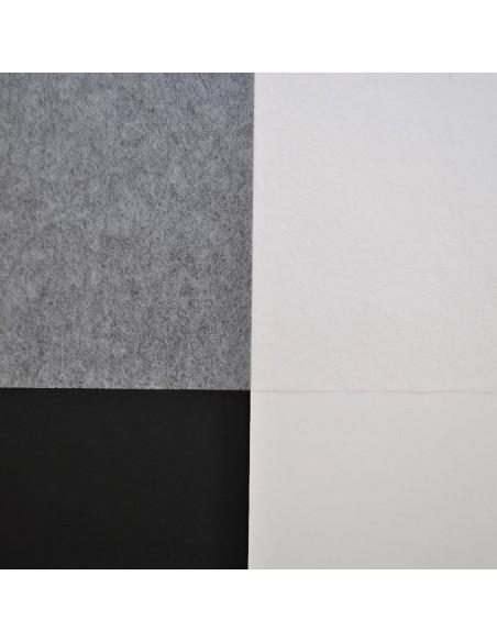 Bibułka japońska Tengujo Kashmir na białym i czarnym tle