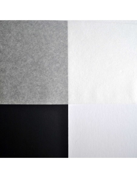 Bibułka japońska Tengujo na białym i czarnym tle