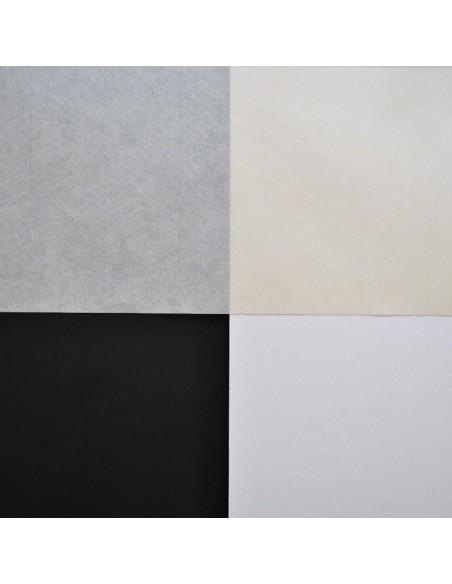 Papier japoński Kawashi na białym i czarnym tle