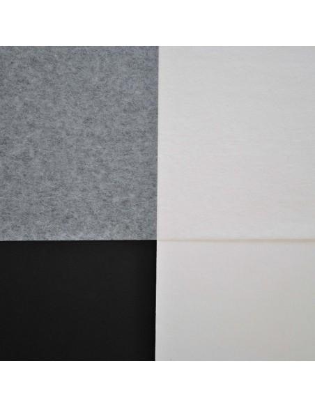 Bibułka japońska włókno Manila 100% na białym i czarnym tle
