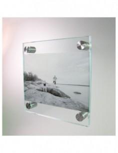 Ramka prezentacyjna na dystansie  Infoglass & Steel