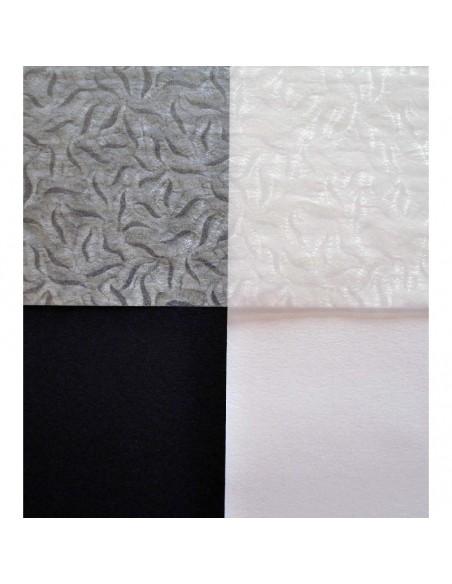 Papier pergaminowy kwiatu mrozu na białym i czarnym tle