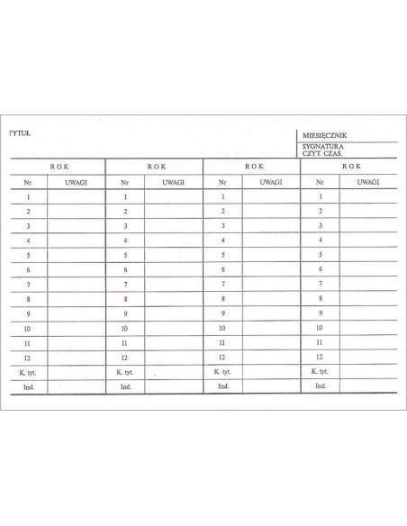 B-114 karta akcesyjna miesięcznika A6
