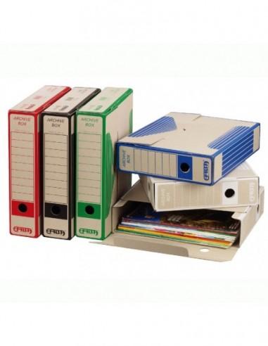 Pudło archiwalne A4 do przechowywania dokumentów - kolorowe