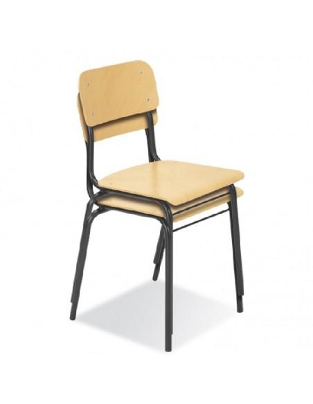 Drewniane krzesła szkolne - składowanie