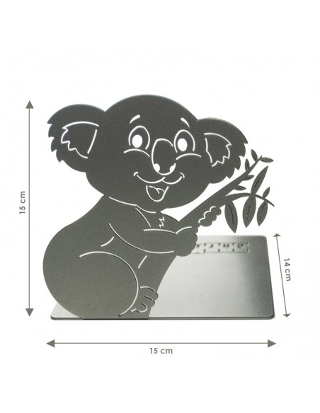 Podpórka do książek Miś Koala - wymiary