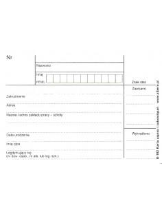 Karta zapisu i zobowiązań B-192