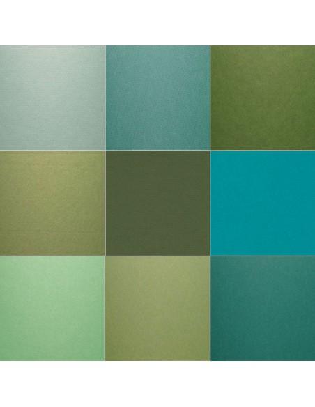 Kartony do oprawy w odcieniach zieleni