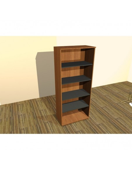 Regał biblioteczny otwarty, 5 półek o grubości 25 mm