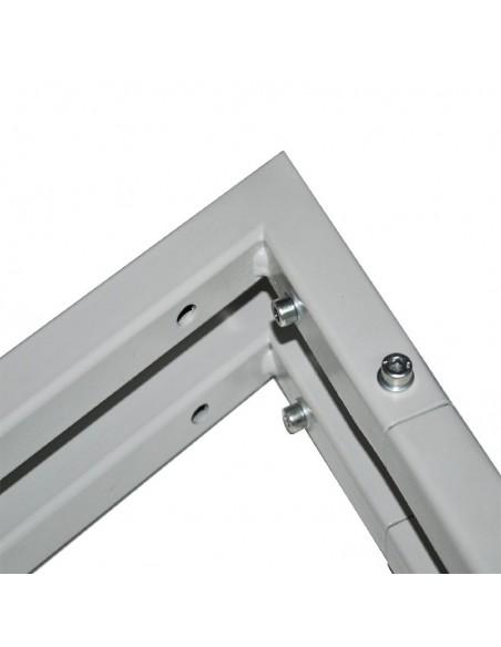 Konstrukcja łączenia w sztaludze metalowej