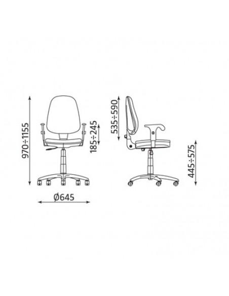 Krzesło biurowe Prestige R3D - wymiary