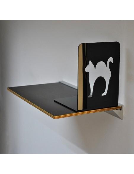 Półka na książki z podpórką Czarny Kot
