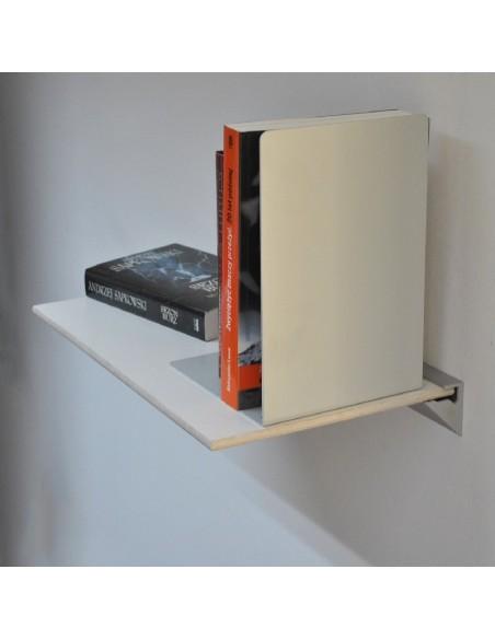 Półka na książki biała z białymi krawędziami