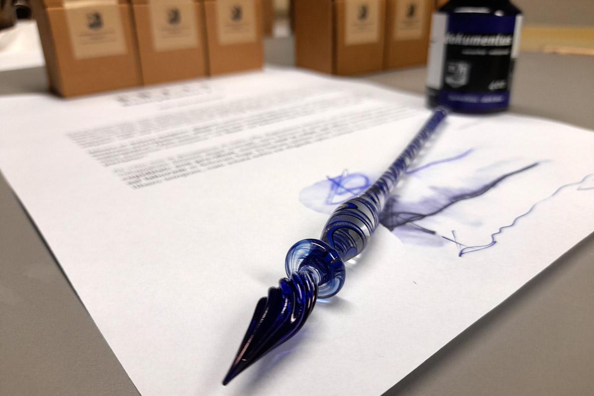 Szklane pióro do kaligrafii